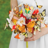 No flowers bridal bouquets: a super original wedding