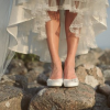 Ballet shoes for weddings, bridal comfort assured!