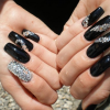 Luxury Nails: Beautiful acrylic nail designs with rhinestones
