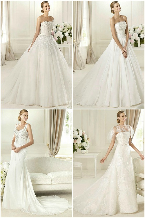 Pre-Pronovias 2013 collection: Transparencies, inlays and fabric flowers