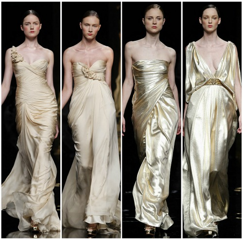 The golden wedding dresses Rosa Clara 2012. Photo: Rosa Clara