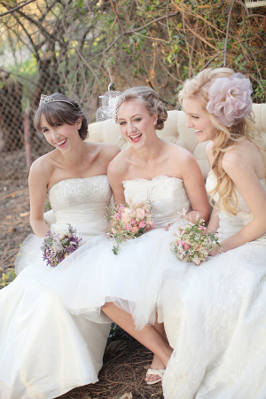 Feathered hairstyles for brides