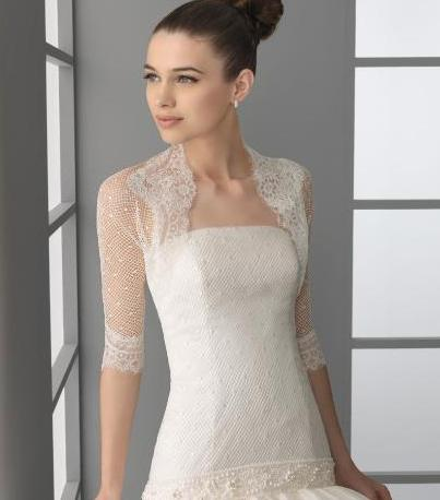 In this design wedding dress also being supplemented with the lace bolero