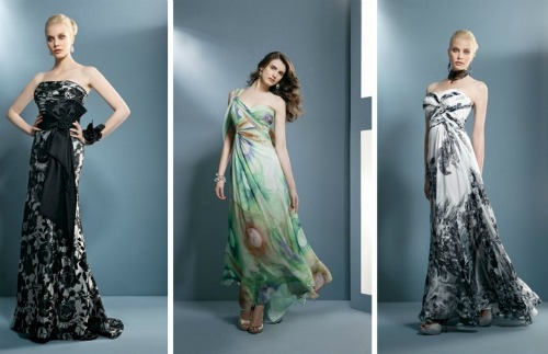 Printed in black robes and colorful. Collection Demetrios 2012