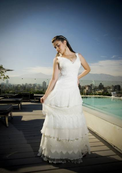 Wedding dress with ruffles Macarena Palma