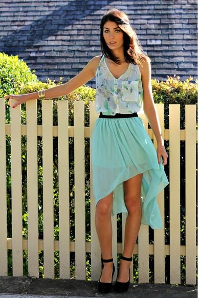 Girls Mint Green Skirt