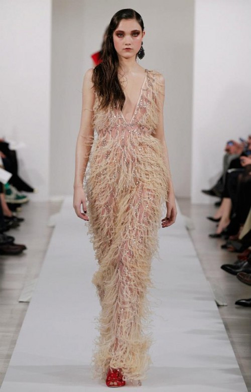 Evening dress nude color inspiration charleston - Photo: Oscar de la Renta