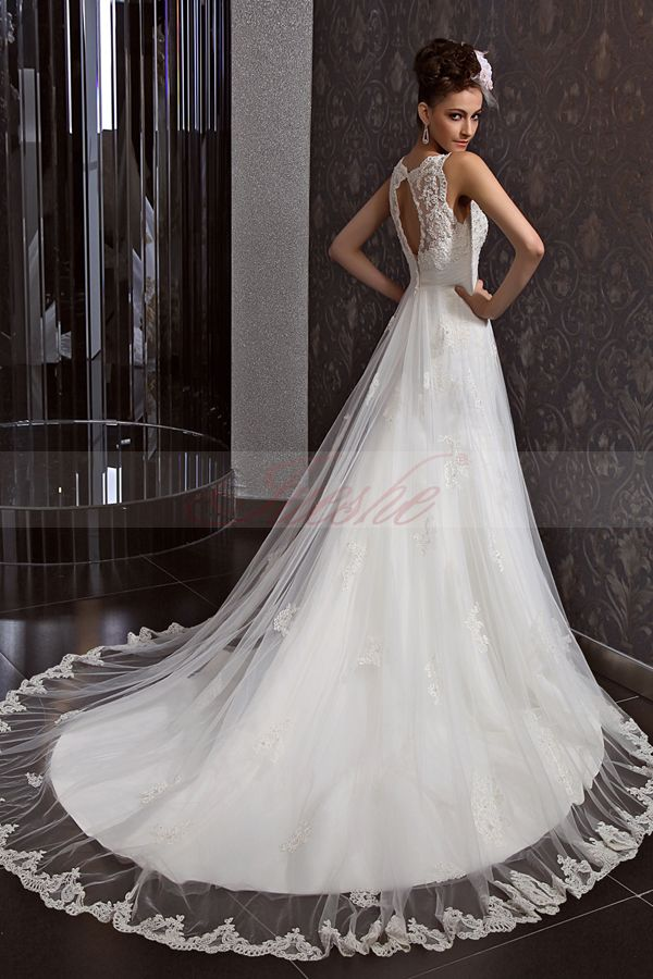 Beautiful Elegant Lace Wedding Dress 2014 - Shinedresses.com