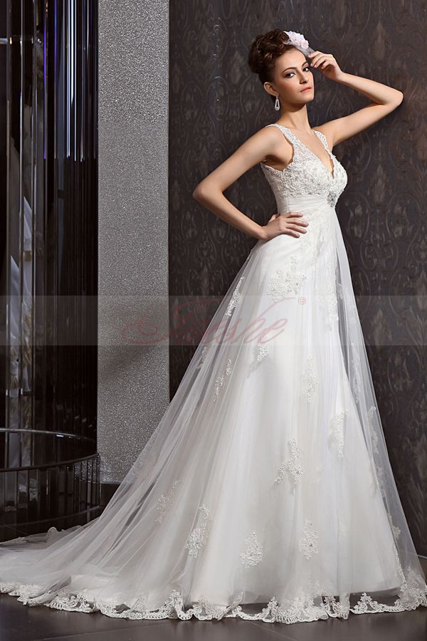 Wedding Dress Elegant Classic : Beautiful elegant lace wedding dress shinedresses