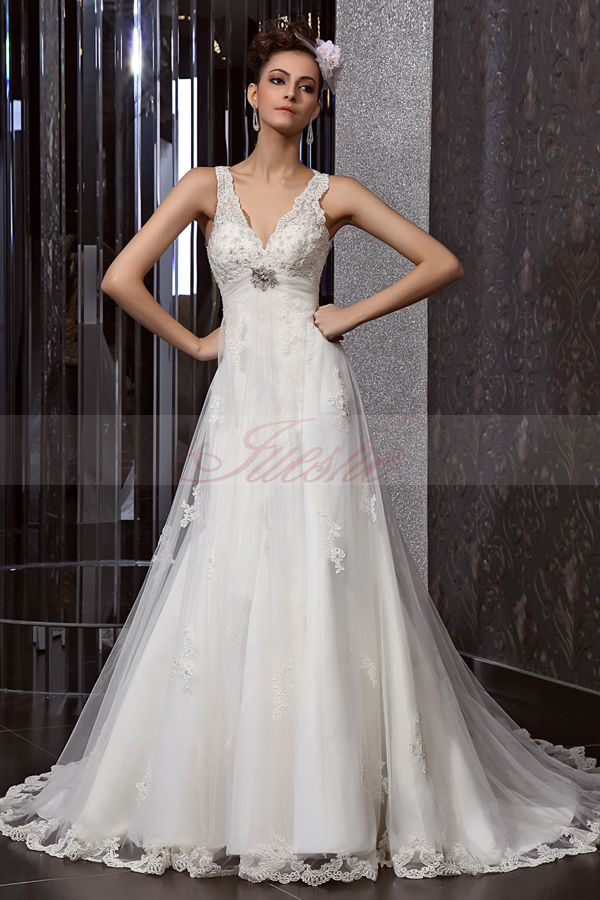 Elegant Wedding Dresses Images : Beautiful elegant lace wedding dress shinedresses