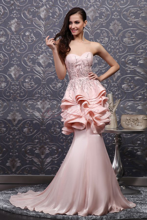 Prom dresses Mermaid Style_Pink_Satin_Prom_Evening_Dress_JSLD0028_1