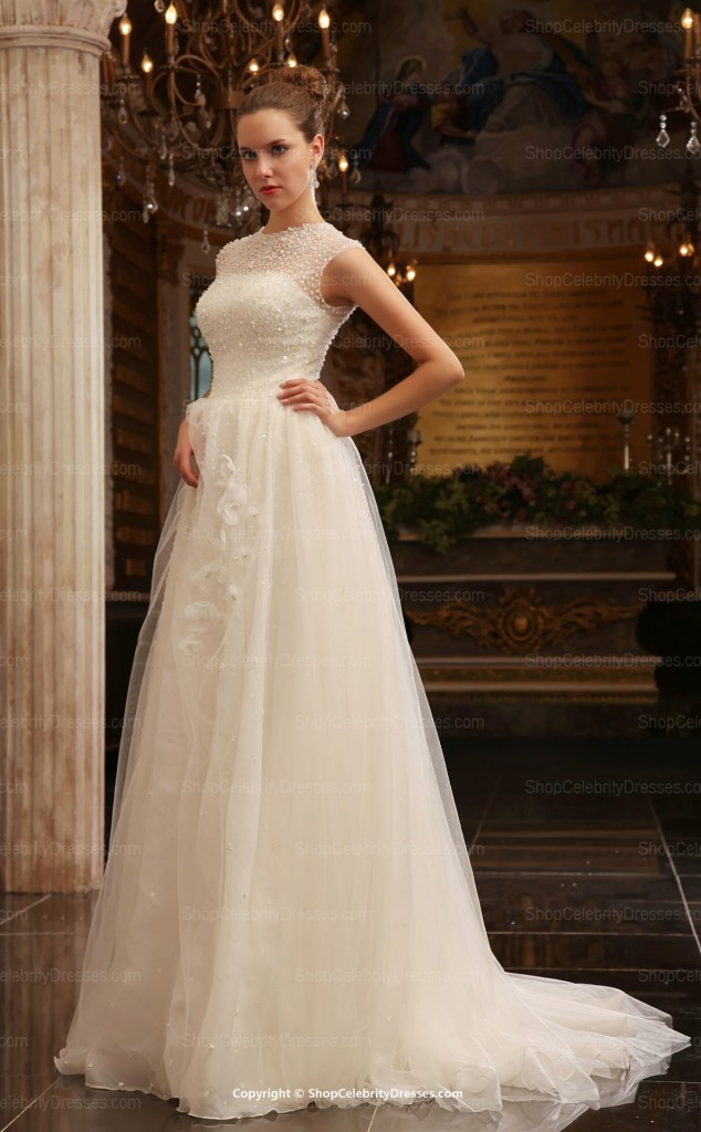 ivory-elegant-a-line--floor-length-with-chapel-train-celebrity-runway-wedding-dresses(scw020)-31