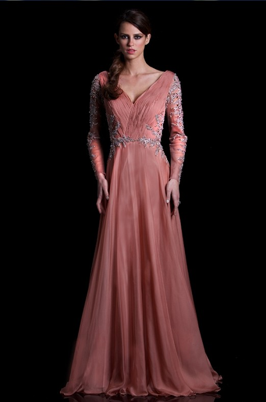 Long Sleeves Evening Dresses 2017