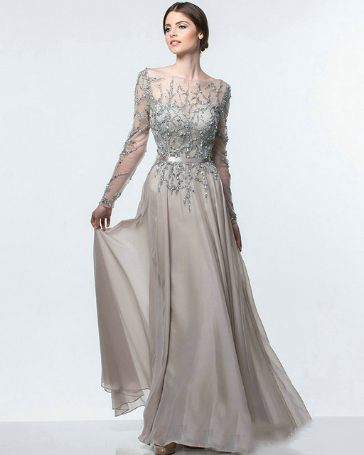 long sleeved evening dress - Dress Yp