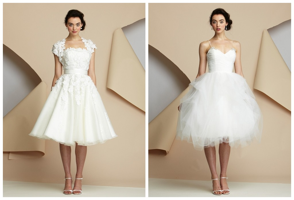 Chiffon And Silk Are The Best Fabrics To Create Elegant Styles Brides Will Look Slim Graceful Wearing Short Style Wedding Gowns Made Of These Two