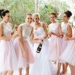 Wear Short Bridesmaid Dress to Attend Your Friend's Wedding