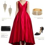 What Color Shoes to Wear with Red Prom Dresses