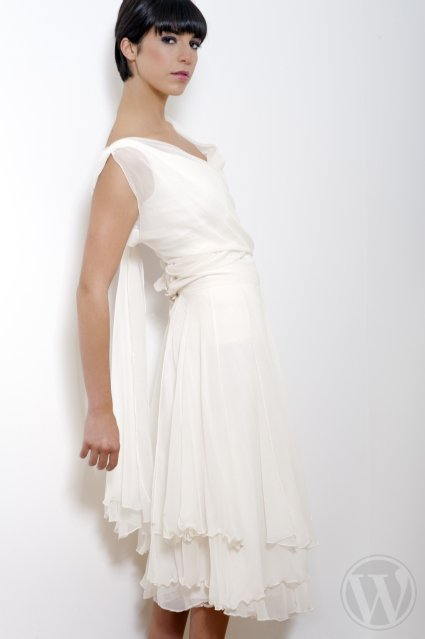Short wedding dress - Odile Leonard 2012