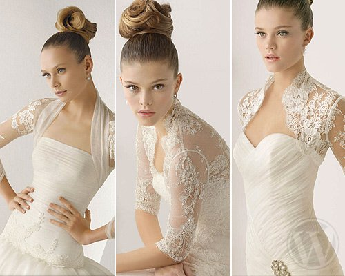 Bolero for brides: the accessory for fall weddings