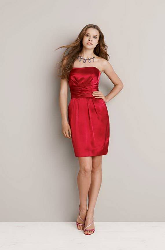 Elegant Red Bridesmaid Dresses 2012
