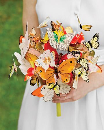 No flowers bridal bouquets: a super original wedding