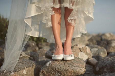 Ballet shoes for weddings, bridal comfort assured!