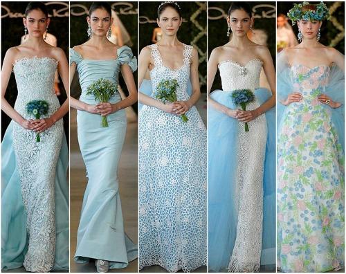 The wedding dresses blue Oscar 2013