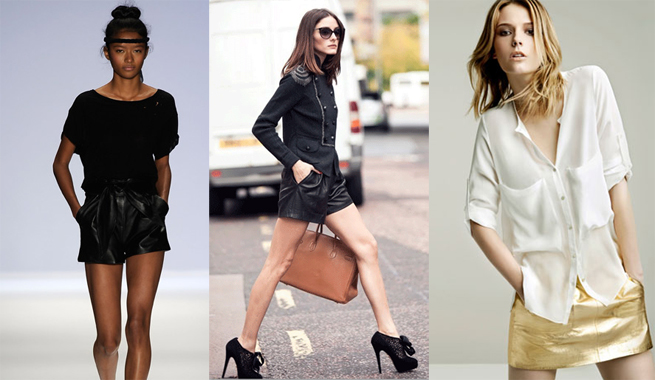 Leather clothes in summer 2012