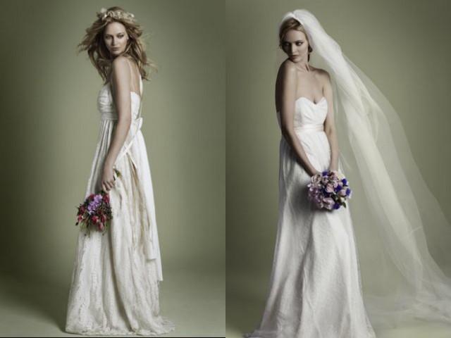 Classic vintage style romantic dresses for brides