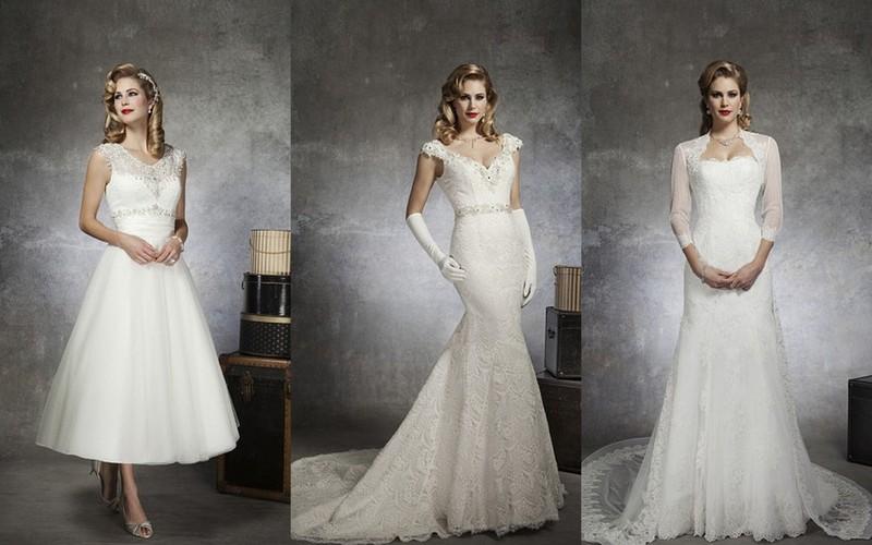Retro wedding dresses 2013: Justin Alexander