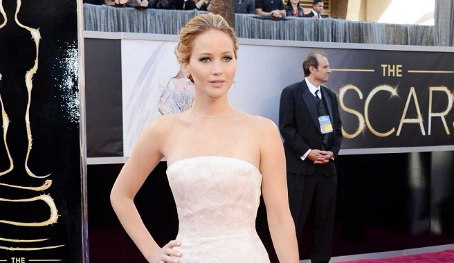 The red carpet at the Oscars 2013