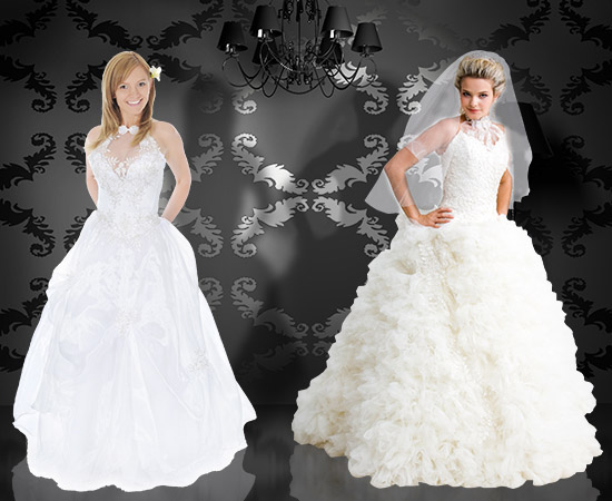 Dresses for brides with wide hips
