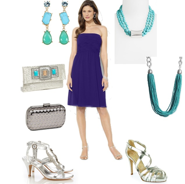 How to Accessorize a Purple Dress?