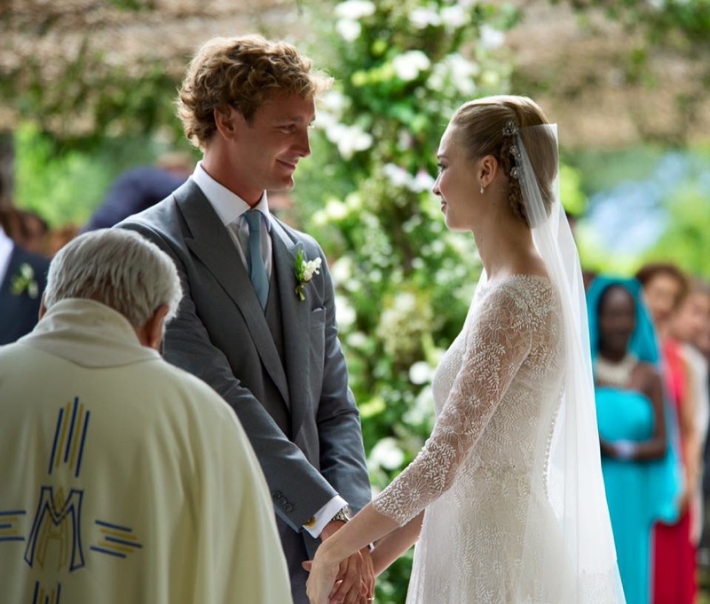 The wedding dress of Beatrice Borromeo