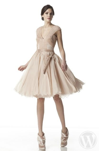 10 short wedding dresses for a wedding in Spring 2012